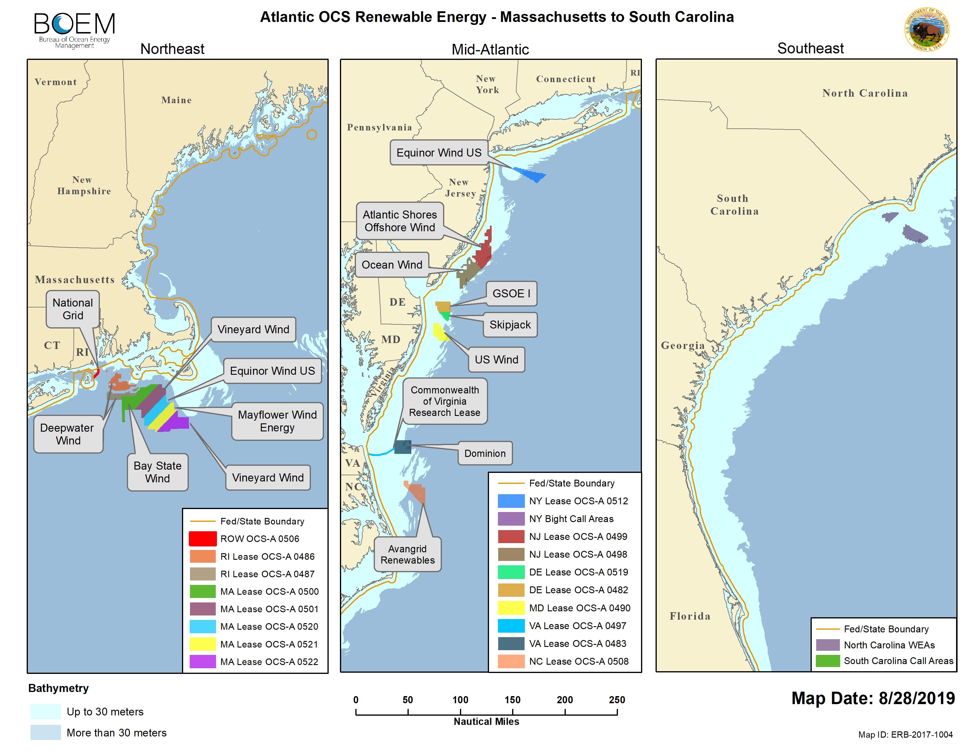 Renewable Energy GIS Data | Bureau of Ocean Energy Management